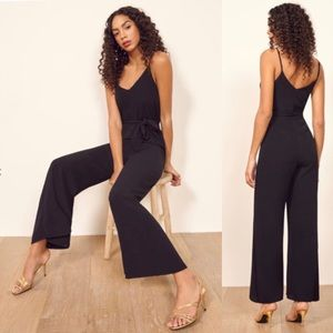 Reformation Milly black jumpsuit small